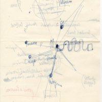 foglio manoscritto con appunti di Aldo Capitini, Marcia Camucia-Cortona 1962, facciata 2